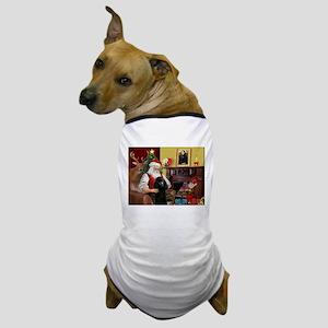 Santa's Poodle (ST-B2) Dog T-Shirt