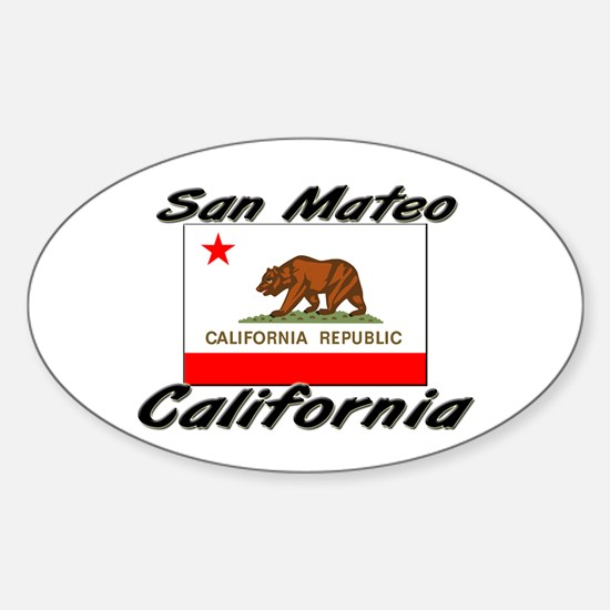 San Mateo California Oval Decal
