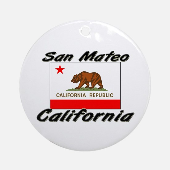 San Mateo California Ornament (Round)
