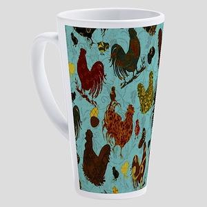 Fun Chickens 17 oz Latte Mug