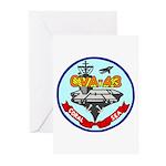 USS Coral Sea (CVA 43) Greeting Cards (Pk of 20)