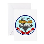 USS Coral Sea (CVA 43) Greeting Cards (Pk of 10)