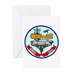 USS Coral Sea (CVA 43) Greeting Card