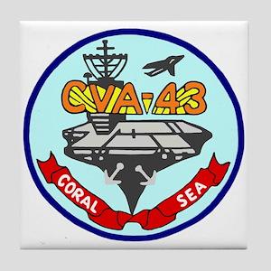 USS Coral Sea (CVA 43) Tile Coaster
