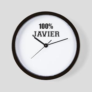 100% JAVIER Wall Clock