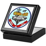 USS Coral Sea (CVA 43) Keepsake Box