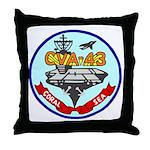 USS Coral Sea (CVA 43) Throw Pillow
