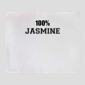 100% JASMINE Throw Blanket