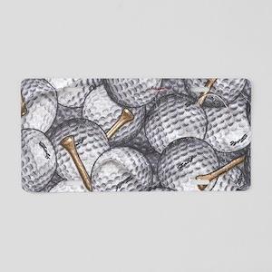 Golf Balls Aluminum License Plate