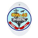 USS Coral Sea (CVA 43) Oval Ornament