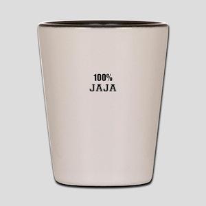 100% JAJA Shot Glass