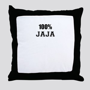100% JAJA Throw Pillow