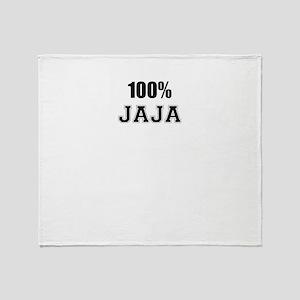 100% JAJA Throw Blanket