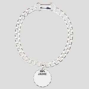 100% JAIME Charm Bracelet, One Charm