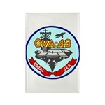 USS Coral Sea (CVA 43) Rectangle Magnet (10 pack)