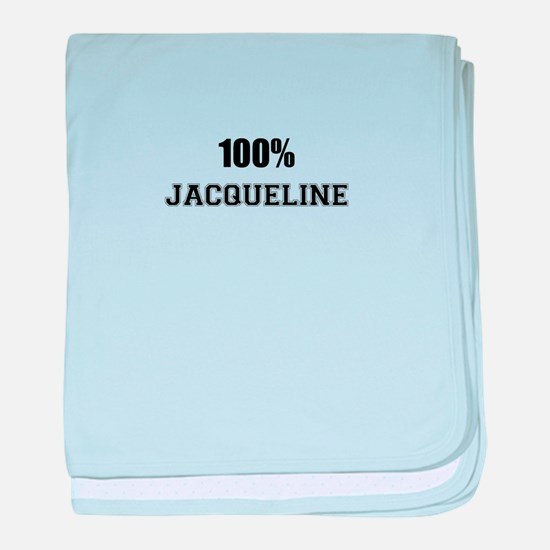 100% JACQUELINE baby blanket
