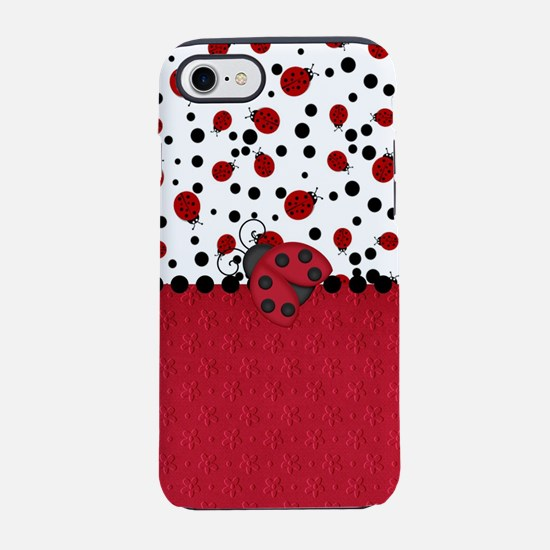 Ladybugs and Dots iPhone 8/7 Tough Case