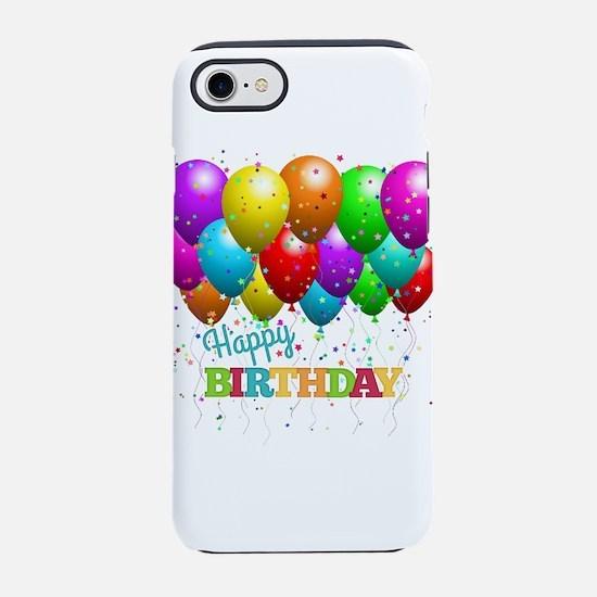 Trendy Happy Birthday Balloo iPhone 8/7 Tough Case