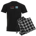 I Love Trucks Men's Dark Pajamas