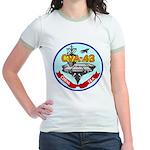 USS Coral Sea (CVA 43) Jr. Ringer T-Shirt
