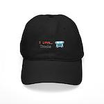 I Love Trucks Black Cap