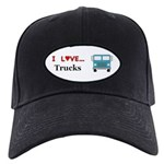 I Love Trucks Black Cap