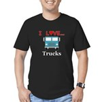 I Love Trucks Men's Fitted T-Shirt (dark)