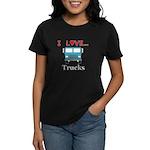 I Love Trucks Women's Dark T-Shirt