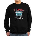 I Love Trucks Sweatshirt (dark)