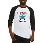 I Love Trucks Baseball Jersey