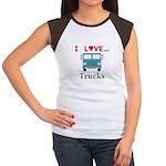 I Love Trucks Junior's Cap Sleeve T-Shirt