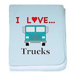 I Love Trucks baby blanket