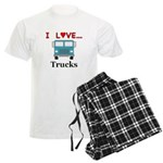 I Love Trucks Men's Light Pajamas