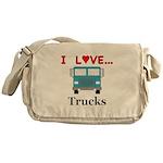 I Love Trucks Messenger Bag