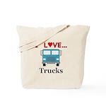 I Love Trucks Tote Bag