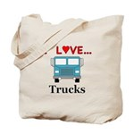 I Love Trucks Tote Bag