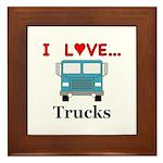 I Love Trucks Framed Tile