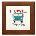 I Love Trucks Framed Tile
