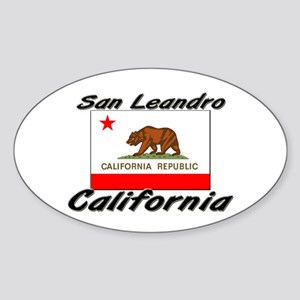 San Leandro California Oval Sticker