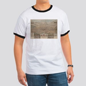 Vintage Pictorial Map of Prescott Arizona T-Shirt