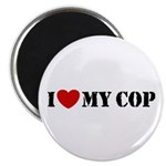 I Love My Cop Magnet