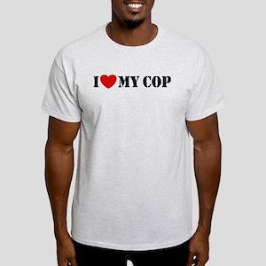 I Love My Cop Light T-Shirt