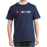 I Love My Cop Dark T-Shirt