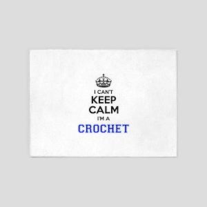 I cant keep calm Im CROCHET 5'x7'Area Rug