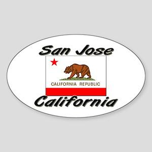 San Jose California Oval Sticker