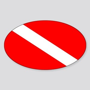 Diver Down Flag Sticker