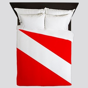 Diver Down Flag Queen Duvet