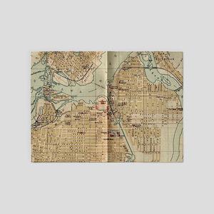 Vintage Map of Ottawa Canada (1894) 5'x7'Area Rug