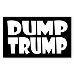 Black Dump Trump -- Anti-Trump Sticker
