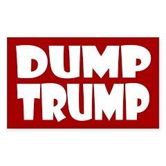 Red Dump Trump -- Anti-Trump Decal